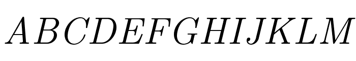 LMRoman9-Italic Font UPPERCASE