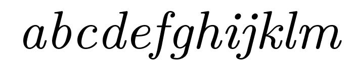LMRoman9-Italic Font LOWERCASE