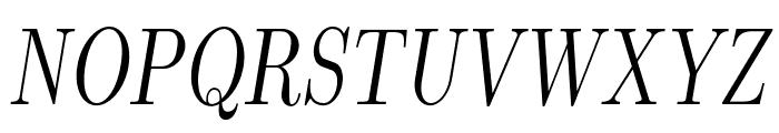 LMRomanDunh10-Oblique Font UPPERCASE