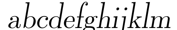 LMRomanDunh10-Oblique Font LOWERCASE
