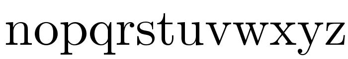 LMRomanDunh10-Regular Font LOWERCASE
