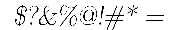 LMRomanSlant17-Regular Font OTHER CHARS