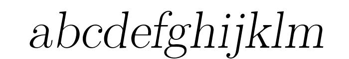 LMRomanSlant17-Regular Font LOWERCASE