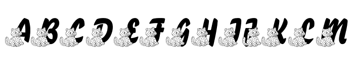 LMS A Berry Nice Cat Font UPPERCASE
