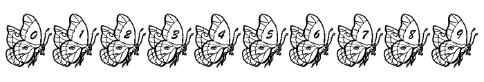 LMS Beautiful Butterfly Font OTHER CHARS