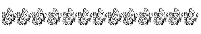 LMS Beautiful Butterfly Font UPPERCASE