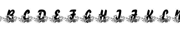 LMS Bed of Ivy and Ribbons Font UPPERCASE