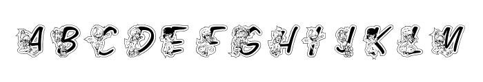 LMS Color Kids Outlined Font LOWERCASE