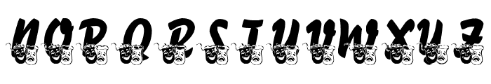 LMS Comedy of Tragedies Font UPPERCASE