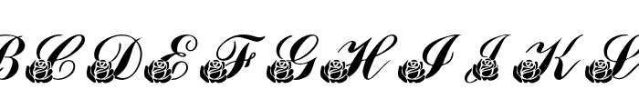 LMS Corinne's Roses Font UPPERCASE