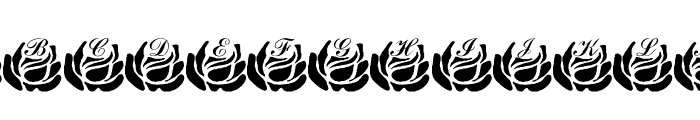 LMS Corinne's Roses Font LOWERCASE