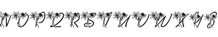 LMS Daisy Days Font UPPERCASE