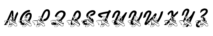 LMS Dance Shoes Font UPPERCASE