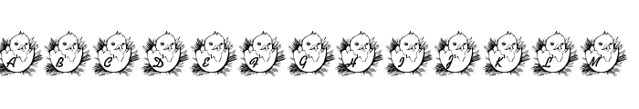 LMS Easter Chick Font UPPERCASE
