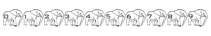 LMS Elephant Tattoo Font OTHER CHARS