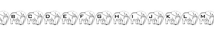 LMS Elephant Tattoo Font UPPERCASE