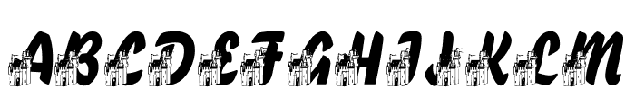 LMS Fairytale Chateau Font UPPERCASE