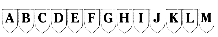 LMS Family Shield Font LOWERCASE