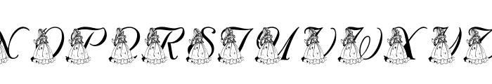 LMS For Princess Julie Font UPPERCASE