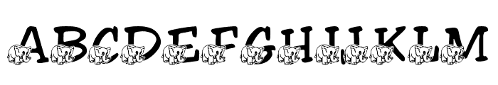LMS Friendly Elephant Font UPPERCASE