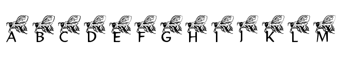 LMS Helpful Hunny Bee Font UPPERCASE