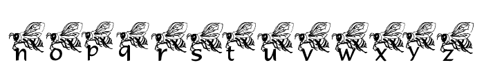 LMS Helpful Hunny Bee Font LOWERCASE