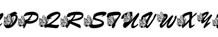 LMS Hogle Zoo Flutterbys Font UPPERCASE