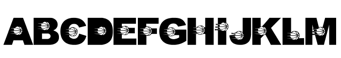 LMS Just A Little Pacers Fan Font UPPERCASE