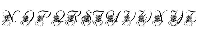 LMS Katy's Bouquet Font UPPERCASE