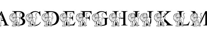 LMS L Is For Lion Font UPPERCASE
