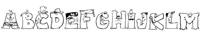 LMS Letterbat Friends Font LOWERCASE