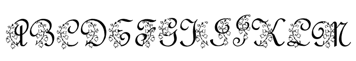 LMS Lily Of The Valley Font UPPERCASE