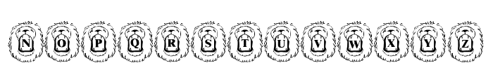 LMS Lion Around Font UPPERCASE