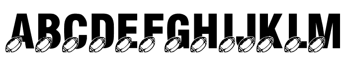 LMS Monday Night Football Font LOWERCASE
