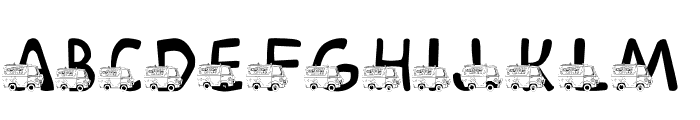 LMS Mystery Machine Font UPPERCASE