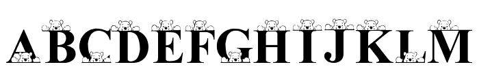 LMS Peek-A-Pooh Font UPPERCASE