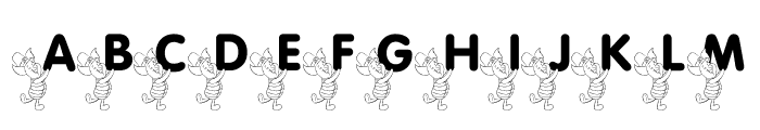 LMS Pigglet's Luck Of The Irish Font UPPERCASE