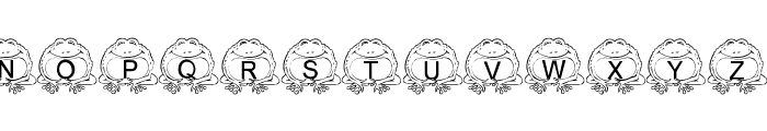 LMS Pill Toad Font UPPERCASE