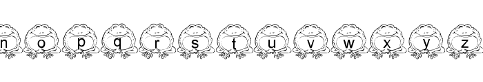 LMS Pill Toad Font LOWERCASE