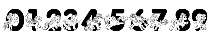 LMS Pretty Pony Font OTHER CHARS