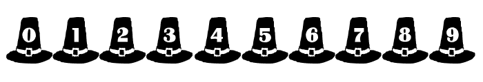 LMS Puritan Party Hats Font OTHER CHARS