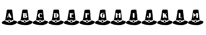 LMS Puritan Party Hats Font UPPERCASE