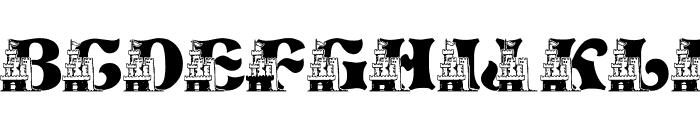 LMS Sand Castle Dream House Font UPPERCASE