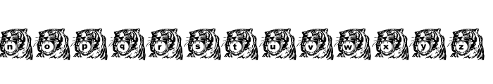 LMS Tiger Toy Font LOWERCASE