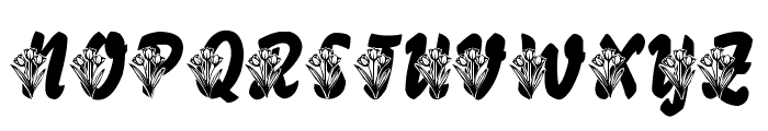 LMS Tulips Font UPPERCASE