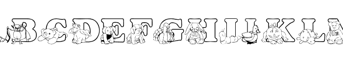 LMS Ty Buddies Font UPPERCASE