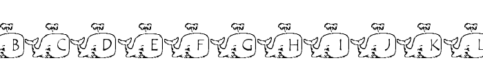 LMS Whale Of A Font Font UPPERCASE