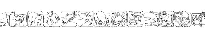 LMS Zoo and Aquarium Life Ding Bat Font LOWERCASE