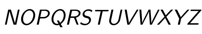 LMSans10-Oblique Font UPPERCASE