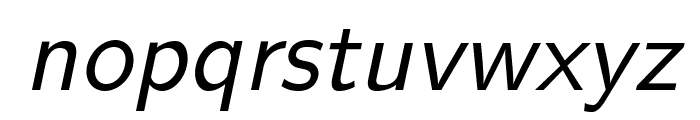 LMSans10-Oblique Font LOWERCASE